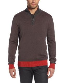 Calvin Klein Jeans Men's 1/4 Zip Sweater, Thunder Grey, Small at  Men�s Clothing store