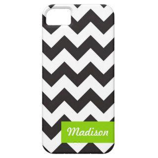 modern chevron black and white zig zag pattern iPhone 5 case
