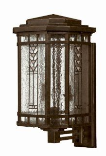 Hinkley Lighting 2244RB Stained Glass / Tiffany 4 Light Outdoor Wall Sconce from the Tahoe Collection, Regency Bronze   Wall Porch Lights