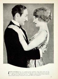 1927 Print Adolphe Menjou Kathryn Carver Silent Film Star Actor Actress Movies   Original Halftone Print