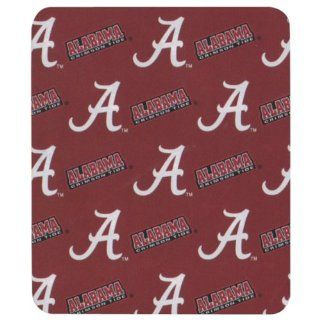 "College ""Allover"" Logo Fleece Throw Blankets   Alabama Crimson Tide : Sports Fan Throw Blankets : Sports & Outdoors"