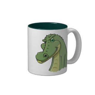 Cartoon Crocodile Coffee Mugs