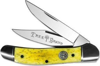 Boker Solingen Germany Tree Brand Copperhead Smooth Yellow Bone Handle Knife  Sporting Goods  Sports & Outdoors