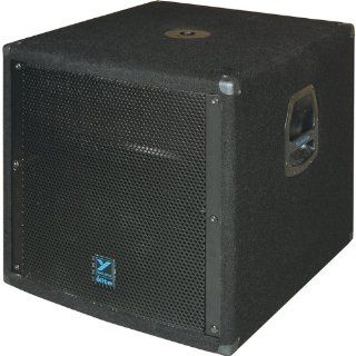 Yorkville LS608 18 Inch Subwoofer Quasi Horn Loaded 800 Watts Passive 4 Inch Voice Coil Electronics