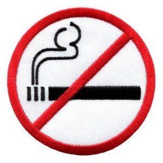 No Smoking Sign Symbol Warning Cigarette Smoke Applique Iron on Patch New S 592 Handmade Design From Thailand : Other Products : Everything Else