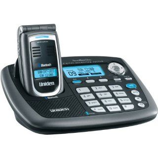 Uniden CellLink ELBT595 5.8 GHz Digital Expandable Cordless Flip Phone with Color LCD, Answering System, and Bluetooth Capability (Titanium) : Cordless Telephones : Electronics