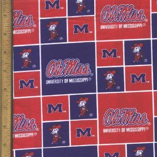 """44"""" Fabric """"University of Mississippi Ole Miss"""" Fabric By the Yard : Other Products : Everything Else"""