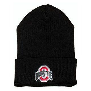 Ohio State Buckeyes Black Winter Hat  Sports Fan Beanies  Sports & Outdoors