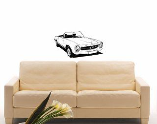 Mercedes Car Auto Automobile Retro Old Garage Wall Vinyl Decal Art Design Mural Modern Interior Decor Bedroom Sticker Removable Room Window (SV3264)