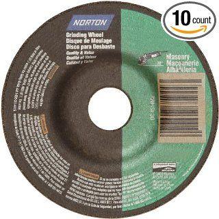 "Norton Masonry Depressed Center Abrasive Wheel, Type 27, Silicon Carbide, 7/8"" Arbor, 4 1/2"" Diameter x 1/8"" Thickness (Pack of 10) Abrasive Cutoff Wheels Industrial & Scientific"