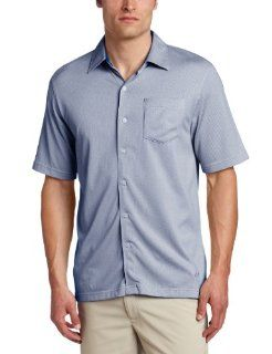 Greg Norman Collection Men's Herringbone Pocket Button Front Shirt (, Small)  Golf Shirts  Sports & Outdoors