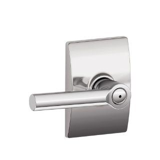 Schlage F40 BRW 625 CEN Century Collection Broadway Bed and Bath Lever, Bright Chrome   Doorknobs