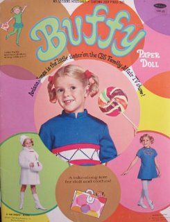Whitman BUFFY PAPER DOLL Book UNCUT w MRS. BEASLEY & TOTE From TV's FAMILY AFFAIR (1969 Toys & Games