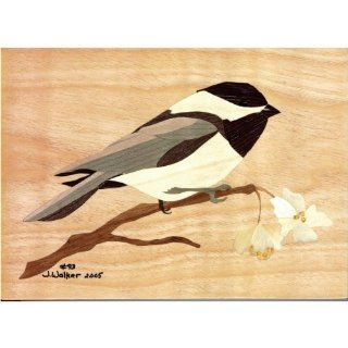 Grizzly H9800 Marquetry Kit   Chickadee   Woodworking Project Kits