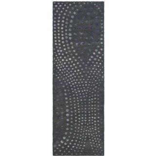 Safavieh SOH654A Soho Collection 2 Feet 6 Inch By 8 Feet Handmade New Zealand Wool Area Runner, Dark Grey   Area Rugs