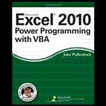 Excel 2010 Power Programming With VBA and CD