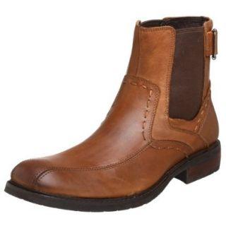 RJ Colt Men's Zaire Distressed Leather Boot, Dark Tan, 7.5 M US Shoes