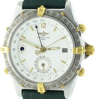 Breitling Windrider Duograph B15047 Two tone Stainless Automatic Mens Watch: Watches