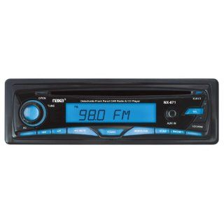 Naxa NCA671 Detachable Stereo AM/FM Car Radio with Compact Disc Player and Aux In Jack (Black)  Satellite Car Radio Tuners And Adapters