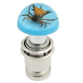Vehicle Auto Car Etched Insect Decor Cigarette Lighter Plug Blue DC 12V Automotive