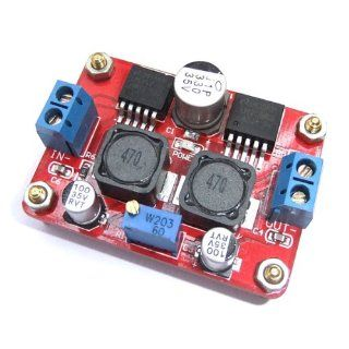 DROK DC Boost/Buck Converter 3.5 28V to 1.25 26V Solar Voltage Regulator Power Supply (LM2596S+LM2577S) Electronics