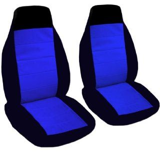 2 black and dark blue seat covers for a 2007 Volkswagen Beetle. Side airbags friendly. Automotive