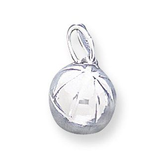 Sterling Silver Basketball Charm: West Coast Jewelry: Jewelry