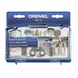Dremel 687 01 52 Piece General Purpose Rotary Tool Accessory Kit With Case   Power Rotary Tool Accessories