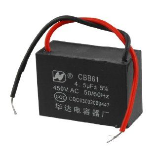 CBB61 Motor Start up Running AC 500V Capacitor 4.5UF Black: Industrial & Scientific
