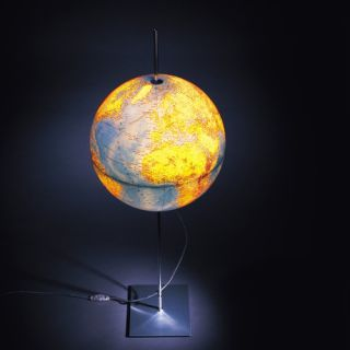 Absolut Lighting Globe Earth Lamp with English Lettering