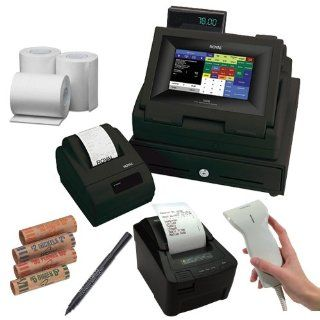 Royal TS4240 LCD Touch Screen Restaurant and Retail Cash Register with Thermal Receipt Printer in Black + Additional Restaurant Kitchen Printer for TS4240 + Accessory Kit : Electronic Cash Registers : Electronics