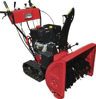 Gas Powered, 13hp 375cc, Electric Start Snow Blower Thrower Machine with Track Tires, Headlight : Patio, Lawn & Garden
