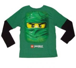 Lego Ninjago Lloyd the Green Ninja Boys Long Sleeved T shirt (4 20) (6, Green) Clothing