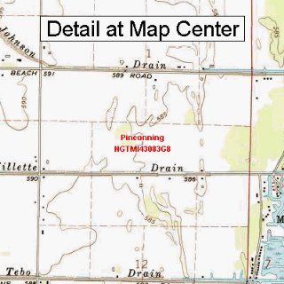 USGS Topographic Quadrangle Map   Pinconning, Michigan (Folded/Waterproof)  Outdoor Recreation Topographic Maps  Sports & Outdoors