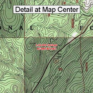 USGS Topographic Quadrangle Map   Lolo Hot Springs, Montana (Folded/Waterproof)  Outdoor Recreation Topographic Maps  Sports & Outdoors
