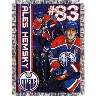 "Ales Hemsky #83 Edmonton Oilers NHL Woven Tapestry Throw (48x60"")"" : Sports Fan Throw Blankets : Sports & Outdoors"