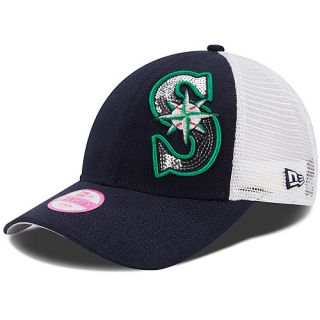 NEW ERA Womens Seattle Mariners 9FORTY Sequin Shimmer Cap   Size: Adjustable,