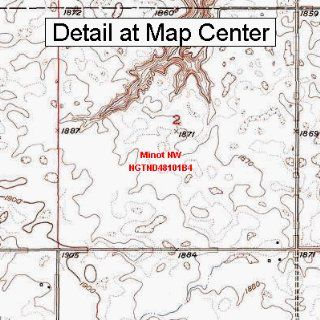 USGS Topographic Quadrangle Map   Minot NW, North Dakota (Folded/Waterproof)  Outdoor Recreation Topographic Maps  Sports & Outdoors