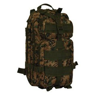 Ultimate Arms Gear Woodland Digital Camo Camouflage Military Travelers Medium Size Modular Molle Alice Web System Transporter Bag Pack Case  Gun Cases And Bags  Sports & Outdoors