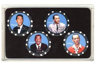 Rat Pack Collector Poker Chip Set Frank Sinatra Dean  Sports & Outdoors