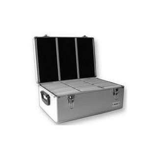 Merax Aluminum Hard CD Case, 1000 Capacity CD Holder Cases in Diamond Silver Color for CD / DVD Media Storage. With 500 Units Double Sided Hanging Sleeves. Great for DJ and Video House. Musical Instruments
