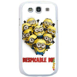 S3DCM 06W for Samsung Galaxy S3 S III SGH I747 I9300 Minions Despicable Me Cartoon Snap on Hard Case Back Cover With ke Logo: Cell Phones & Accessories