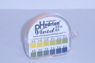 PH Test Tape Dispenser Hydrion Papers Strips made for Saliva or Urine Testing   Range is in .2 Intervals and from 5.5 to 8.0   Check Body for Alkaline or Acid Environment   Approx. 100 Tests Health & Personal Care