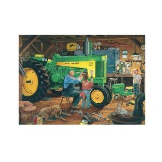 Great American Puzzle Factory John Deere Restoration II 1000 Piece Jigsaw Puzzle Toys & Games