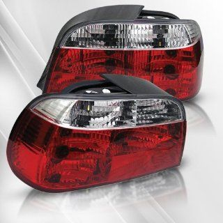 BMW 730i 735i 740i 750i 760i (E38) 95 96 97 98 99 00 01 Crystal Tail Lights ~ pair set (Clear/Red): Automotive