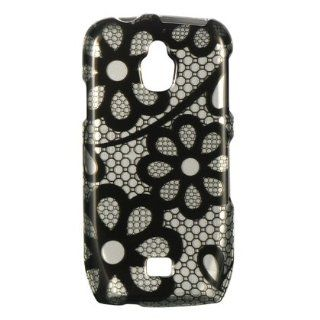 Dream Wireless CASAMT759BKLACE Slim and Stylish Design Case for the Samsung Exhibit 4G/T759   Retail Packaging   Black Lace: Cell Phones & Accessories
