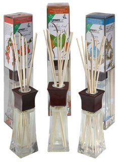 Greenair All Natural Reed Diffuser Set of 3, Ocean, Mandarin and Honeysuckle, 6.6 Ounce Health & Personal Care