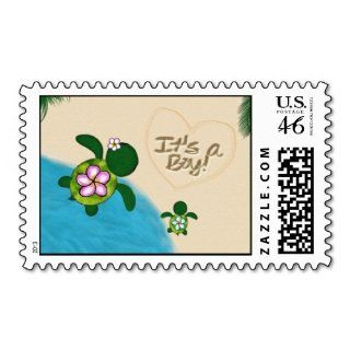 Boy Sea Turtle Baby Shower Postage Blue (honu) 02a: Toys & Games