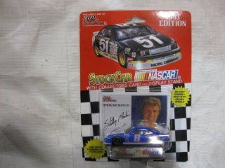 NASCAR #8 Sterling Marlin 1993 Raybestos Racing Team Stock Car With Driver's Collectors Card And Display Stand. Racing Champions Red Background Black Series 51 Car Toys & Games