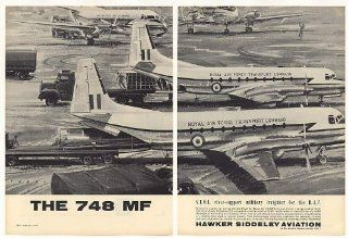 1963 Royal Air Force Hawker Siddeley 748 MF Aircraft Print Ad (41986)